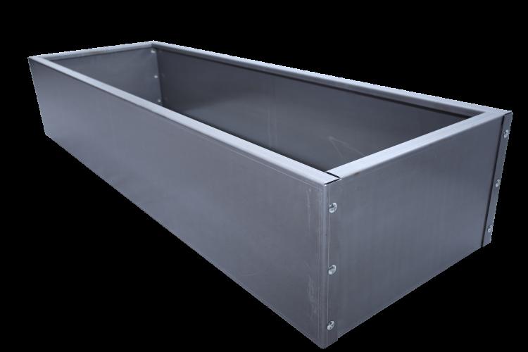Bac rectangulaire en acier - Moyen modèle - H. 520