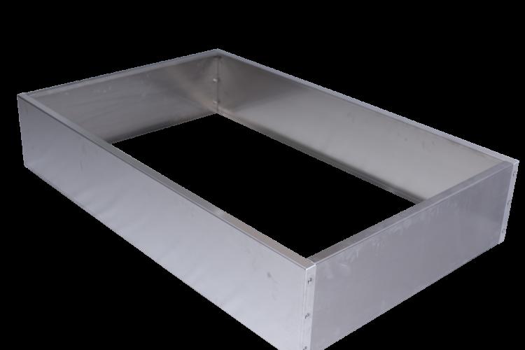 Bac rectangulaire en alu - Grand modèle - H. 520