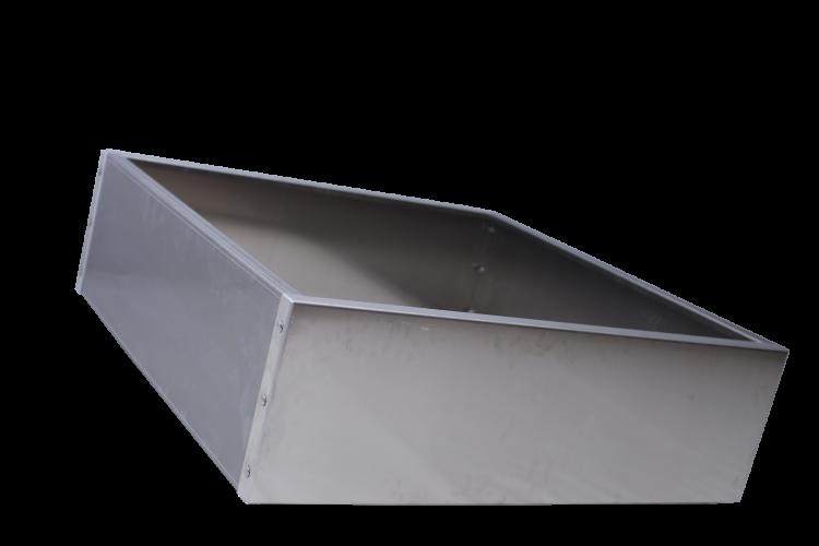 Bac carré en alu - Taille haute - H. 370