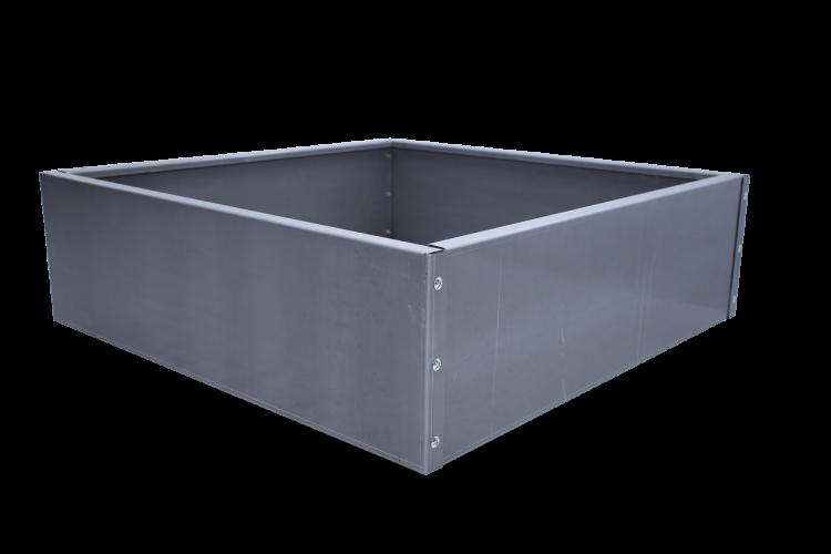 Bac carré en acier - Taille haute - H. 800