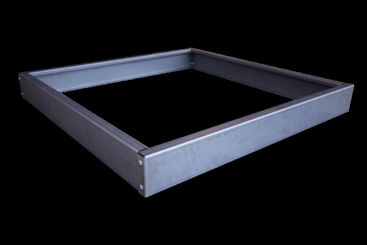 Bac carré en acier - Taille basse
