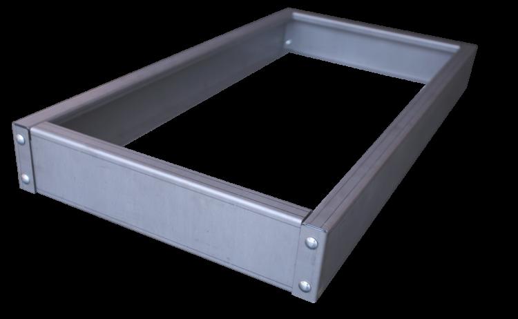 Bac rectangulaire en acier - Taille basse