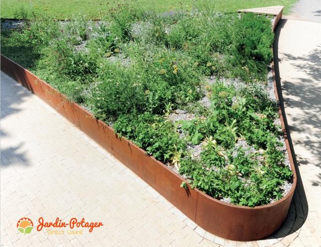 Bordure acier corten-bordure pour réaliser jardinière-bordure en aluminium- jardinière courbées- bordure courbée-